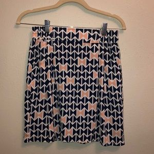 Navy/pink patterned skirt
